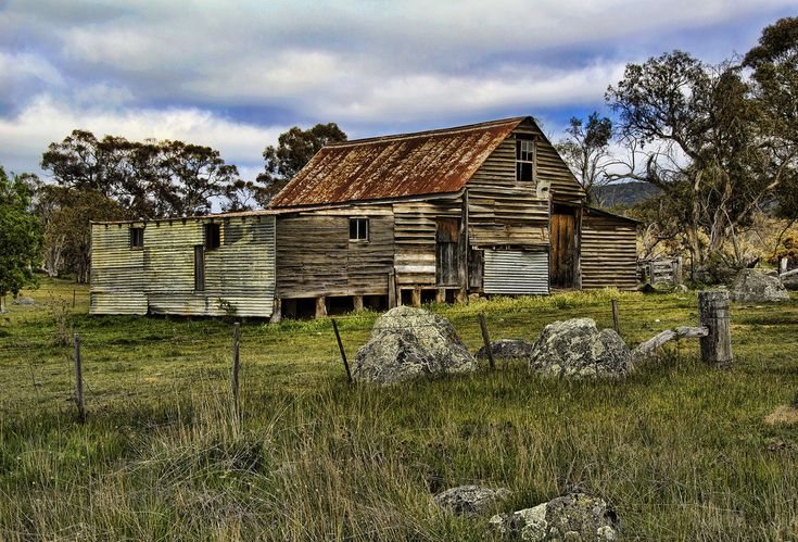 On the road to Cooma NSW Australia, old shearing shed
