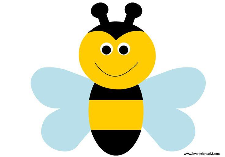 SAGOMA APE Sagome utili per realizzare un'ape di carta da attaccare alle porte e ai vetri delle finestre di scuola nel periodo di Primavera.