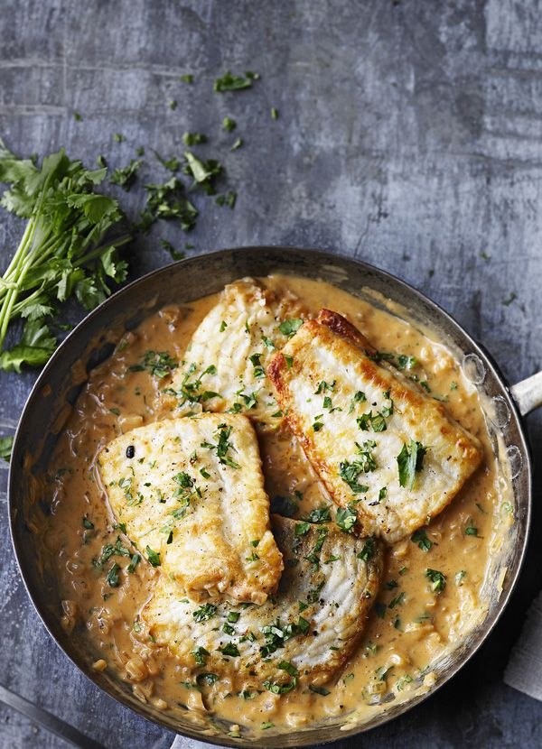 Tamarind and coconut plaice; serve on steamed basmati. Tasty stovetop one dish.