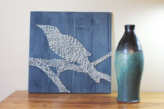 String Art Template DIY String Art Raven by StringArtTemplates