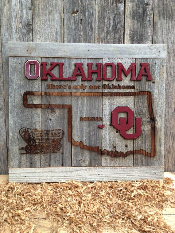 OKlahoma University There's only ONE OKLAHOMA 12 x by LaserZStudio