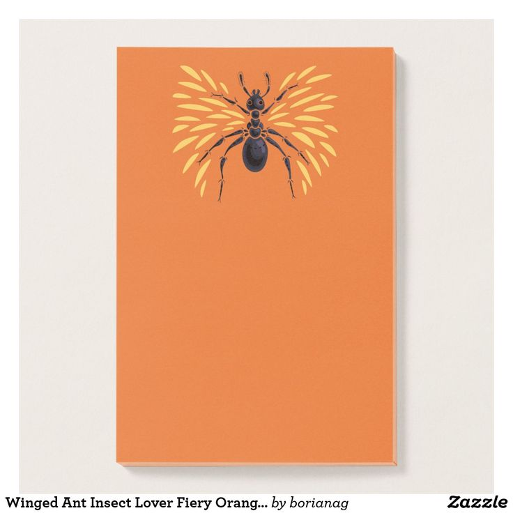 Winged #Ant #Insect Lover Fiery Orange #Entomology Post-It Notes  #stationery at #zazzle