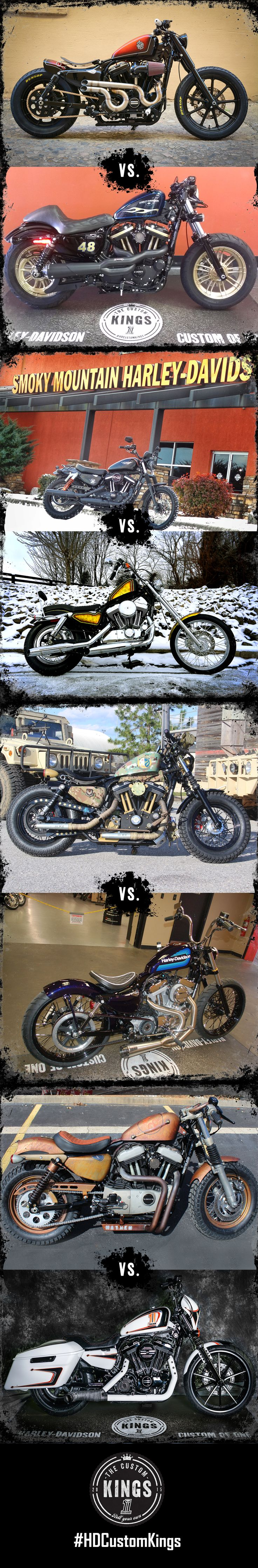 Vote for the 64 Sportsters built by the customization experts at H-D dealers across the U.S. New round of voting each Tuesday.   #HDCustomKings Southeast Region