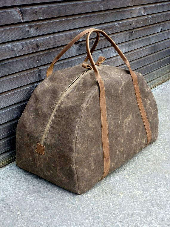 Hey, I found this really awesome Etsy listing at https://www.etsy.com/listing/154097241/waxed-canvas-weekend-bag-weekender