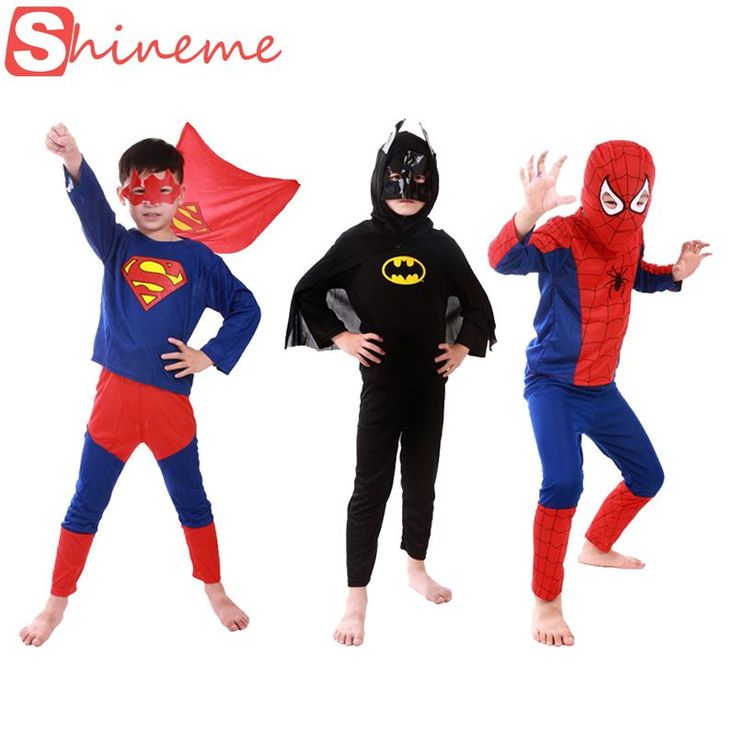 3 sets 1 lot kids superhero costume Spiderman Batman  Superman costumes set cloths boys birthday Party children super hero cape-in Clothing from Novelty & Special Use on Aliexpress.com | Alibaba Group