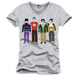 The Big Bang Theory T-Shirt Team Color grey | Captain Hook Merchandise