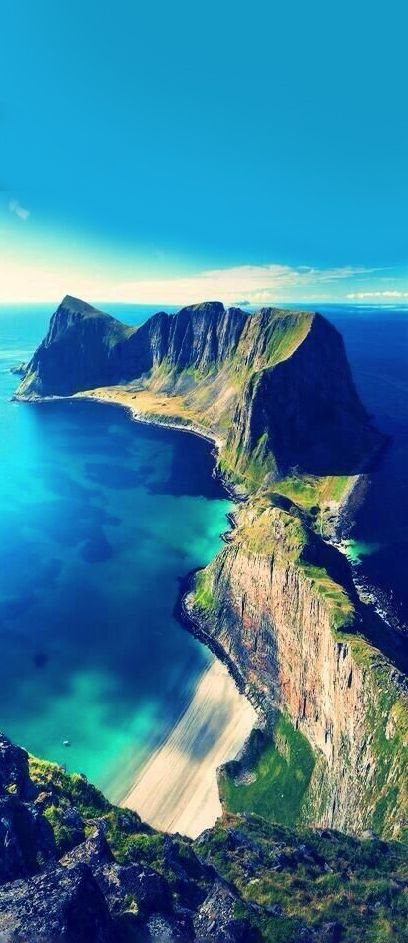 The Lofoten Islands, Norway, definitely. It going to Norway for my honeymoon but this makes me want to change my mind! So so beautiful!