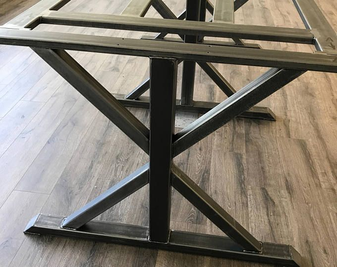 Modern, Industrial Conference, Dining Trestle Table Legs , Model #TTBC01, with Frame Brace