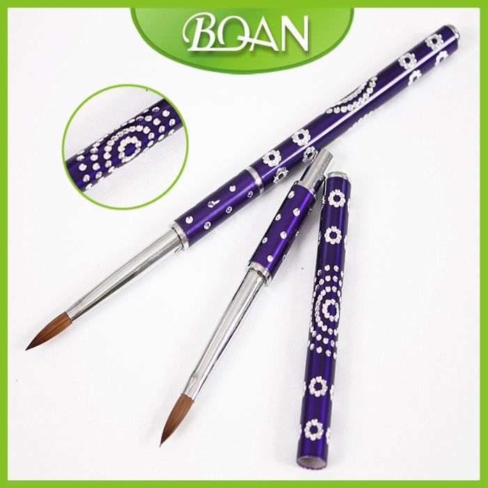 BQAN Free Shipping Wholesale Brand New Acrylic Paint Brush Acrylic Nails Supplies Acrylic Brush Kolinsky in Nail Brush