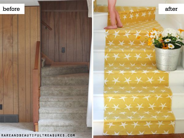 Stair_Runner: Bored Beaches, Basements Stairs, Stairs Runners, Beaches Houses, Cottages Stairca, Stairs Cases, Beautiful Treasure, Cottages Stairs, Beaches Cottages