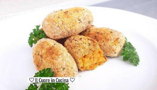 Ricetta leggera delle crocchette di ceci al forno. Si tratta di crocchette di ceci vegan, senza uova e senza formaggio molto semplici da preparare