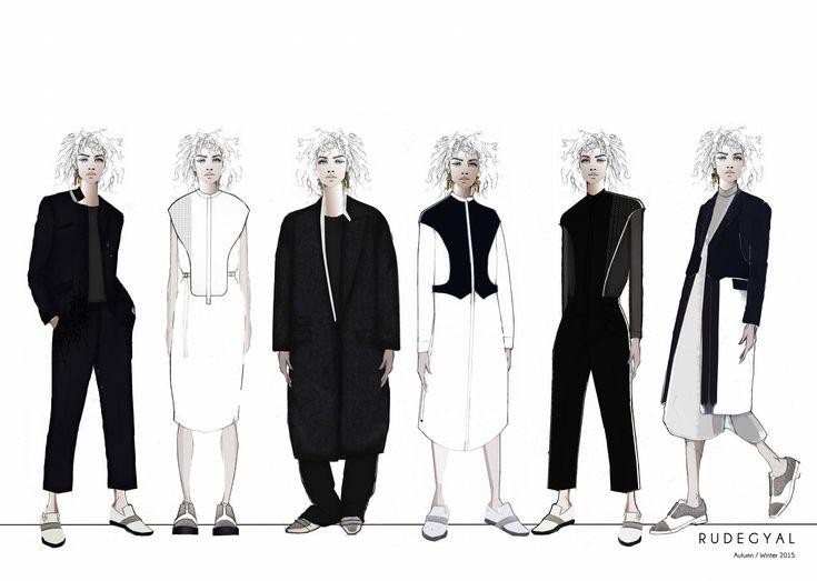 Fashion Sketchbook - fashion illustrations; tailoring lineup; fashion portfolio // Emma Louise Williams