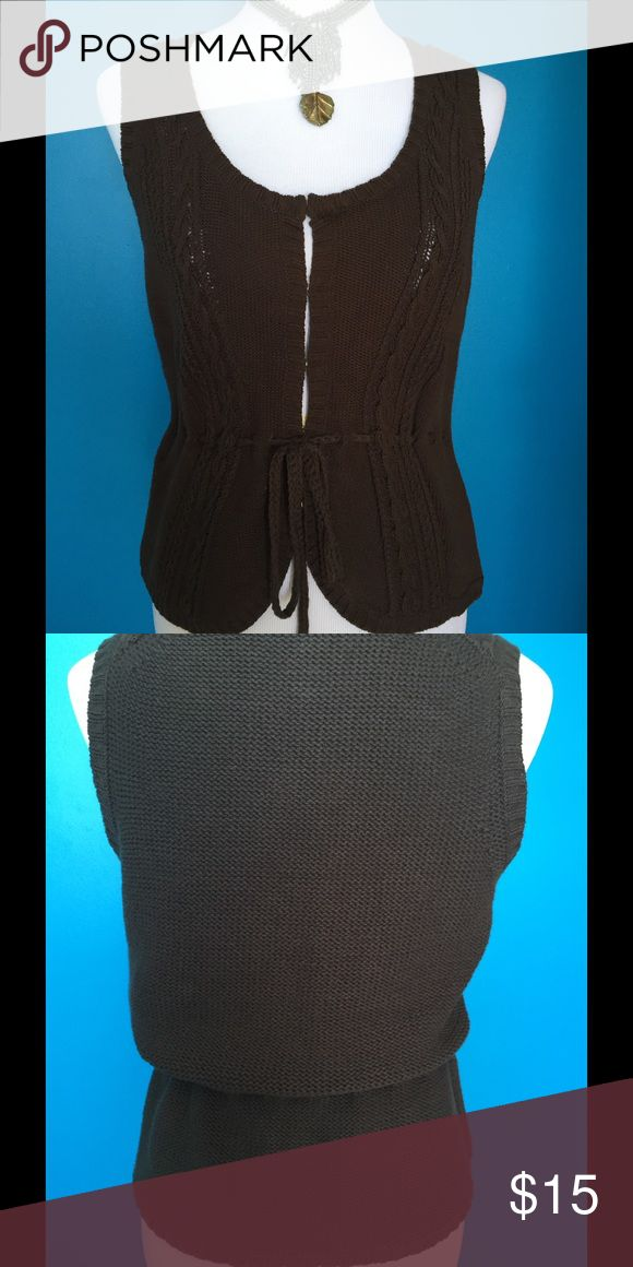 LOFT (Ann Taylor) Sweater Vest This is a Loft Petites sweater vest with hook and eye front closure and drawstring waist.  It is in excellent used condition! LOFT Other