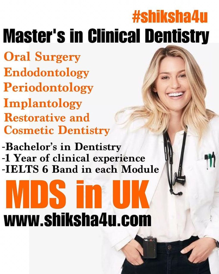 MDS in UK 🇬🇧 Masters in Clinical Dentistry, Admission Open
