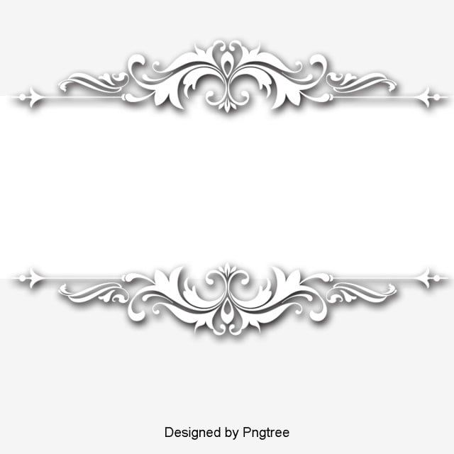 Continental Exquisite Three Dimensional Pattern White Border Continental Fine Three Dimensional Png Transparent Clipart Image And Psd File For Free Download Dimensional Patterns Black And White Drawing Wedding Album Design