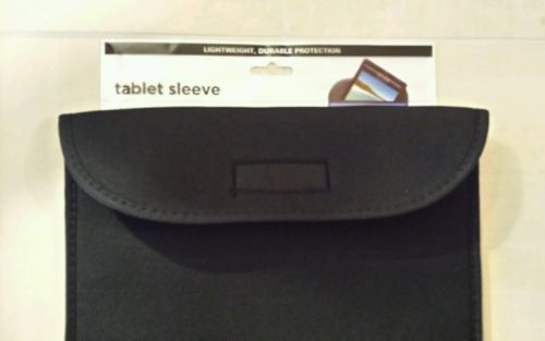 "New Black Tablet Sleeve Fits 10"" Inch Tablets ipad Samsung Android Universal"