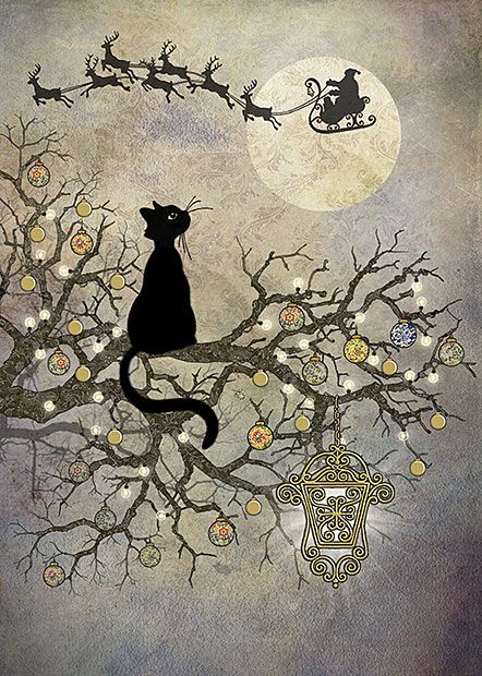 Jane Crowther, Bug Art Greeting Cards: Moon Cat, foiling and embossing