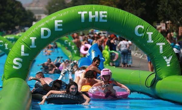 Slide the City Brings World's Largest Slip 'n Slide to Orange County - OC Mom Blog | OC Mom Blog