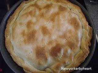 Skinketærte med kartoffel og feta
