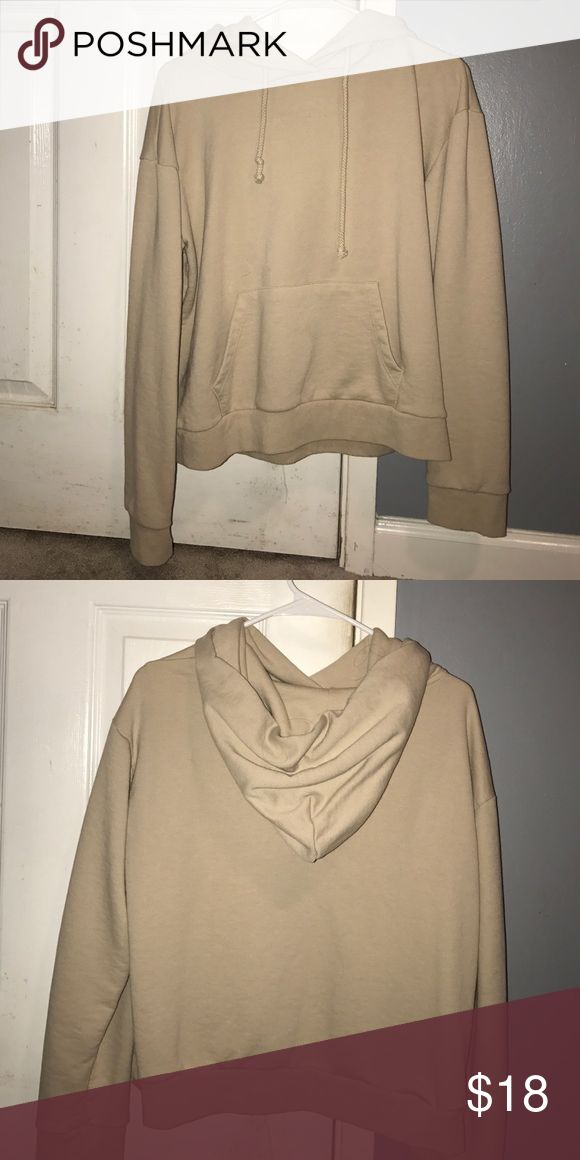 Nude hoodie Like new! From forever 21 kinda cropped but not to much. Forever 21 Sweaters