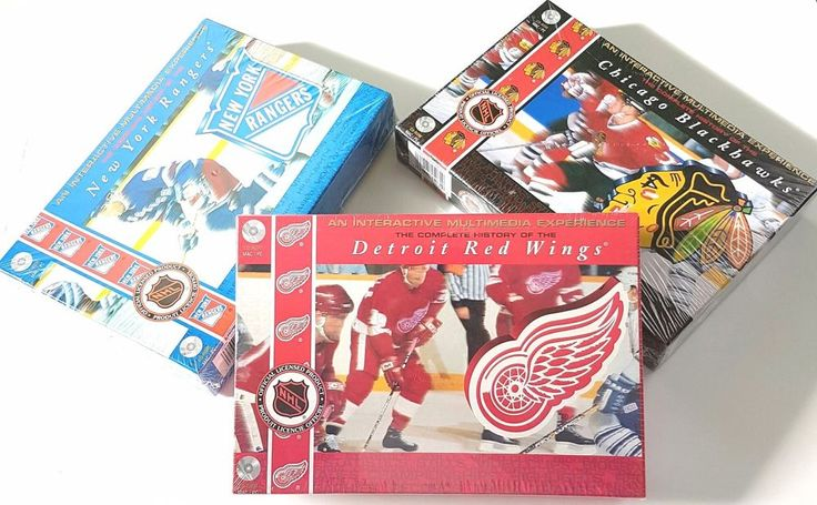 Lot of 3 PC/MAC - Complete History Blackhawks/Rangers/Red Wings - NHL New 1996