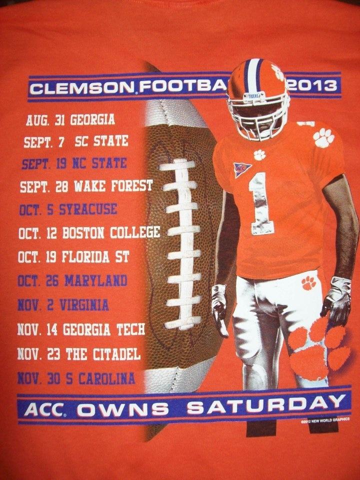 Clemson Football 2013 Schedule