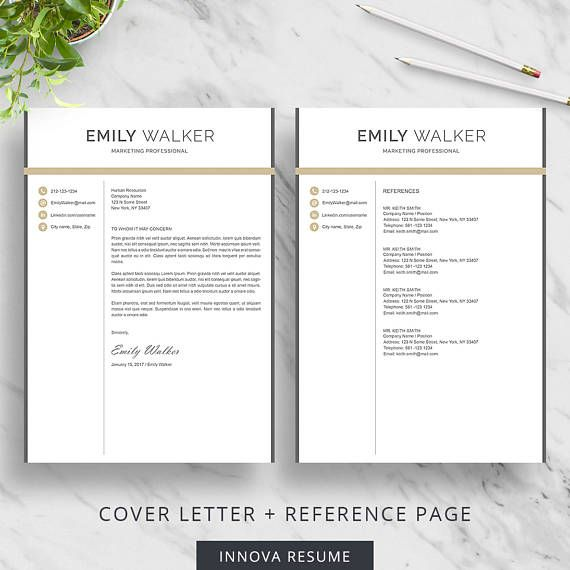 modern resume template for word clean resume design 2 page resume download creative resume template cv template for word - Pages Resume Template