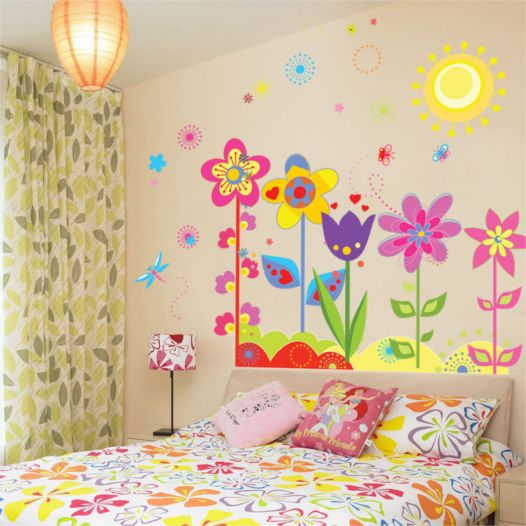 Hemdekor - Väggdekor Färgglada Blommor