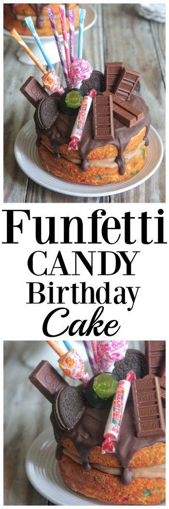 Funfetti Candy Birthday Cake