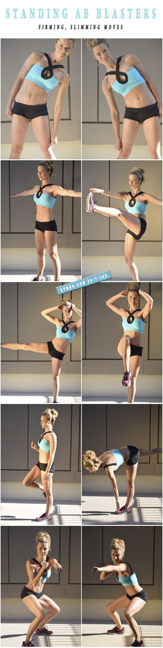 This is so great. I love working my abs from a standing position. Such a great way to work the core without pulling on your neck.
