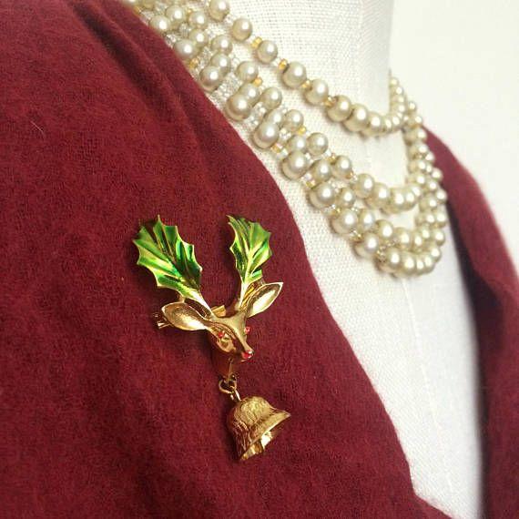 Vintage Reindeer Brooch by Mz Jones Boudoir