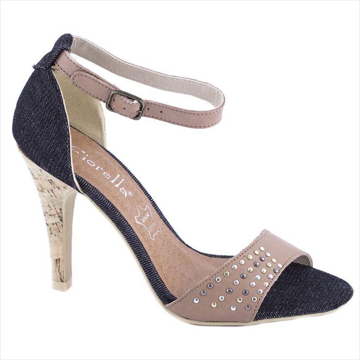 Sandale cu toc 20-F41454T - Reducere 58% - Zibra