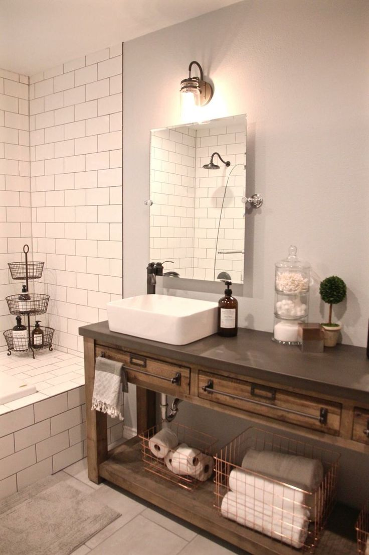 Bathroom Remodel  Restoration Hardware Hack mercantile console table hacked into a double vanity Best 25 Home goods mirrors ideas on Pinterest Mirrors in dining