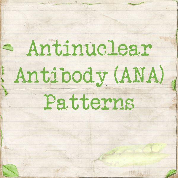 Anti nuclear Antibody Patterns