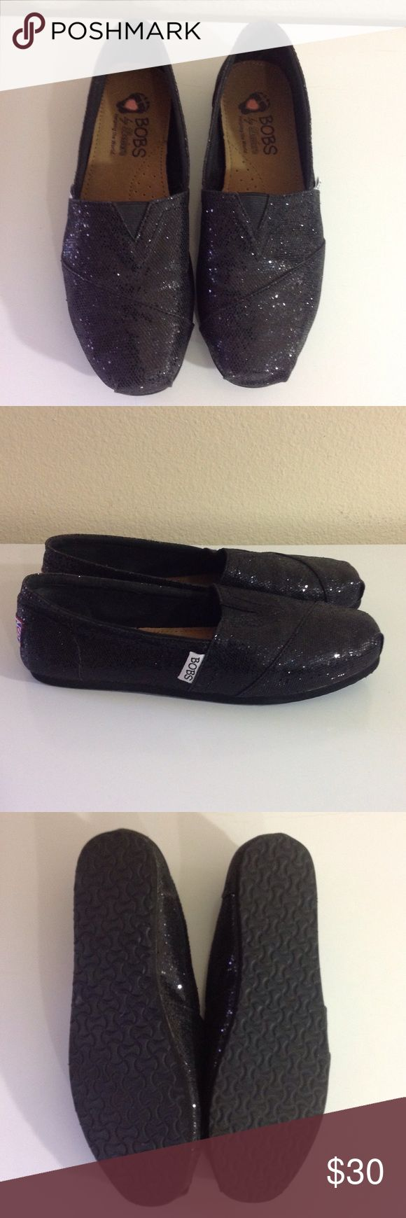 Black Sparkle Bobs NWOT CONDITION: NWOT  CONCERNS: None  ⭐️ Feel free to ask questions or make an offer! ⭐️  📦 Next Day Shipping! Sunday - Thursday 📦 Skechers Shoes
