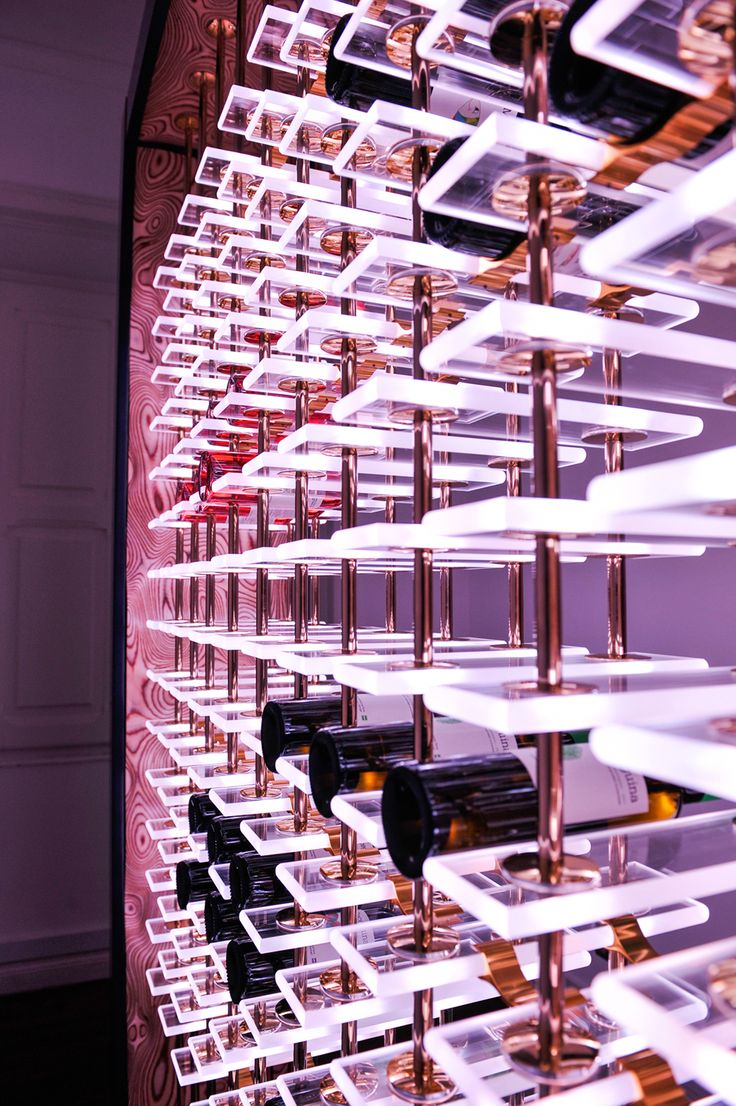 """A digital and interactive wine rack incorporating the latest LED technology"" 