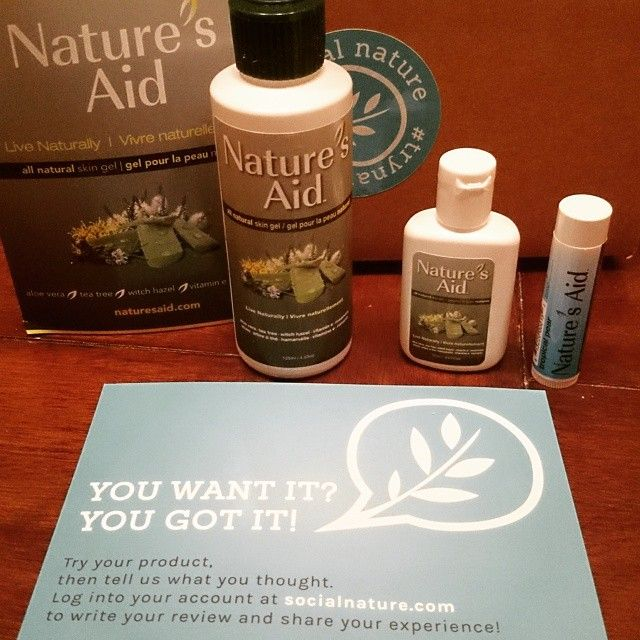 Love my Nature's Aid skin gel thanks to Social Nature!!!