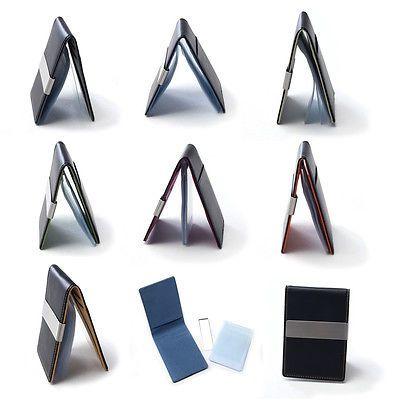 PREMIUM 7 Color Men Slim Money Clip Leather Wallet Credit ID Case Card Holder CS