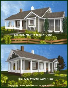 Affordable Small House Plans | Small Home Floor Plans. PORCHES!!!!!!!