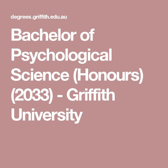 Bachelor of Psychological Science (Honours) (2033) - Griffith University