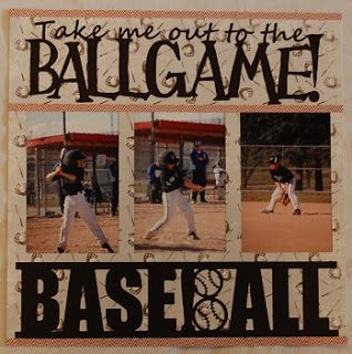 I used my cameo to make this baseball scrapbook layout