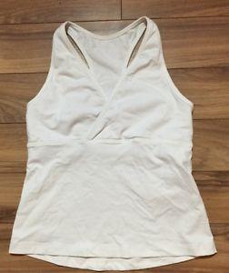 Lululemon Womens White Tank Top Built In bra Small 🇺🇸 | eBay