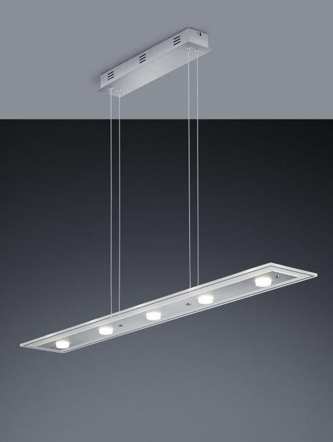 OSLO Trio - závesné LED svietidlo - brús.hliník+sklo- 1100mm