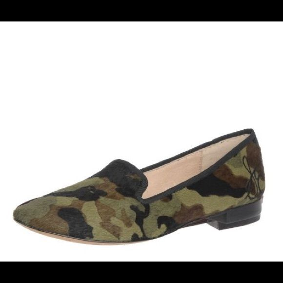 Sam Edelman Camo Smoking Flats Sam Edelman Alvin camouflage smoking flats. Size 9.5. Calf hair upper, leather lining. Great condition, only worn once or twice! Sam Edelman Shoes Flats & Loafers