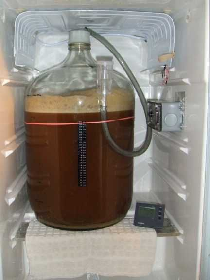Low profile airlock for lager fermentation in a mini for Craft a brew fermenter