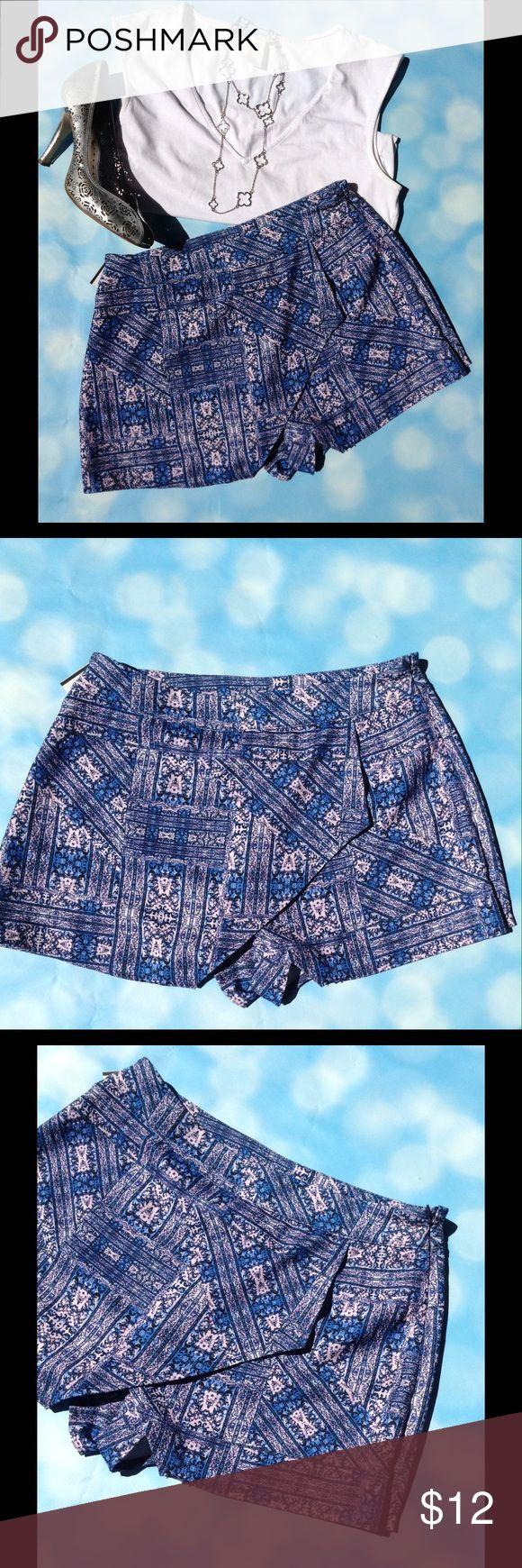 Shirt design envelope - Printed Envelope Shorts Skort Super Cute Envelope Shorts Blue Pink And Black Designs