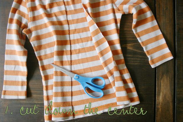 make a cardi out of a shirt