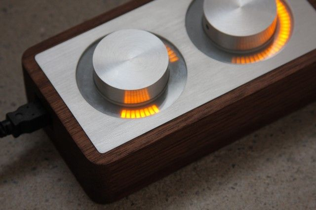Large knobs and dials with no labels invite you to touch and explore