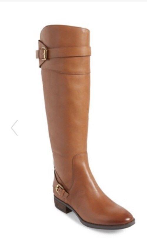 5ec965ddd35b SAM EDELMAN Boots Portman Tall Leather Riding Boot Knee Brown Whiskey 8 M