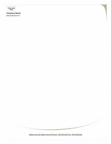 Letterhead (Green Wave design)